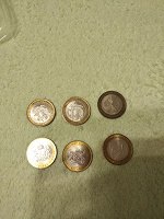 Отдается в дар 10 рублей биметаллические