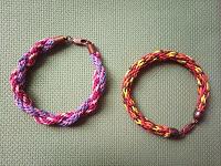Отдается в дар Плетёные браслеты на замочках