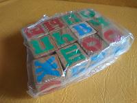 Отдается в дар Кубики с алфавитом