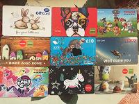 Отдается в дар Подарочные пластиковые карты (2 фото)