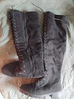 Отдается в дар Сапоги-ботфорты 39р на шнуровке на полную ногу