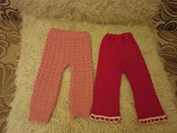 Отдается в дар Теплые штанишки на девочку- годовасика.