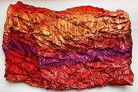 Отдается в дар Яркий шарфик с мятой текстурой