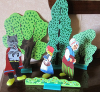 Отдается в дар Набор для игры кукольный театр «Красная Шапочка»