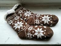 Отдается в дар Тёплые носки-тапочки