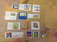 Отдается в дар Марки почтовые маяки, Новый год, рисованные