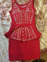 Отдается в дар Платье с баской 40-42