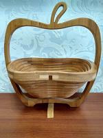 Отдается в дар Ваза для фруктов или конфет, деревянная.