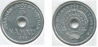 Отдается в дар Монета Северный Вьетнам 5 ксу (1958)