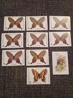Отдается в дар Марки бабочки