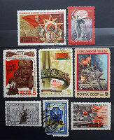 Отдается в дар Великая Отечественная Война на марках СССР.