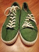 Отдается в дар Кеды зелёные унисекс, размер 41
