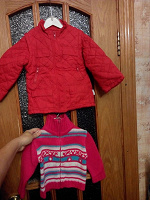 Отдается в дар Куртка «CHICCO» и свитер на молнии
