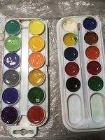 Отдается в дар Краски школьные акварельно-медовые