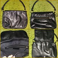 Отдается в дар Чёрная кожаная брутальная сумка б/у — на зиму