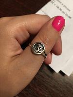Отдается в дар Серебряное кольцо «Ом»
