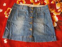 Отдается в дар Простая джинсовая юбочка