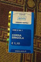 Отдается в дар Билет на транспорт в Неаполе в коллекцию