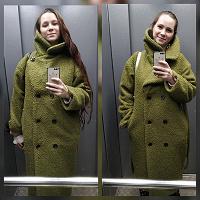 Отдается в дар Дизайнерское пальто 42-48