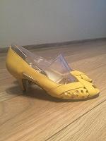Отдается в дар Туфли желтые летние 37 р-р