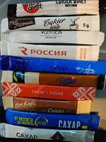 Отдается в дар пакетики сахар в коллекцию кучка
