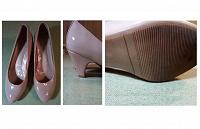 Отдается в дар Туфли лаковые со средним каблучком Центро 38 размер