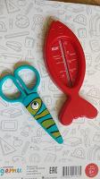 Термометр для воды и ножнички пластиковые