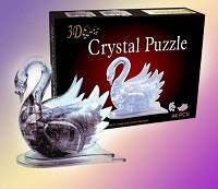 Отдается в дар 3D-пазл Crystal Puzzle «Лебедь»