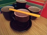 Отдается в дар 4 чашки для кофе с блюдцами