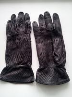 Отдается в дар Перчатки кожаные черные