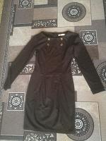 Отдается в дар Платье коричневое. 40-42 размер.