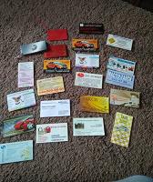Отдается в дар Карточки, визитки в коллекцию