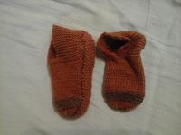 Отдается в дар Детские вязаные носочки