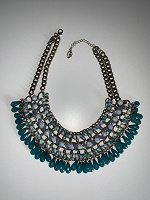 Отдается в дар Колье, украшение, бусы в стиле бохо цвета голубо-синие(бижутерия)