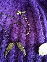 Отдается в дар Крылья Ангела-украшение из двух кулонов.