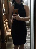 Отдается в дар Черное платье длЯ смелых. 40(42) размер.
