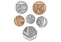 Отдается в дар Великобритания. Годовой набор монет 2019г