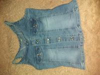 Отдается в дар Топик джинсовый 34 -36