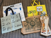 Отдается в дар Эко-авоськи, сумки, пакеты.