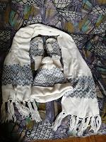 Отдается в дар Комплект зимний варежки шапка шарф