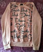 Отдается в дар Розовый свитерок