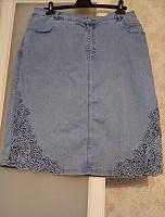 Отдается в дар Юбка джинсовая большого размера