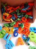Отдается в дар Буквы и цифры