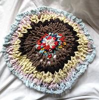 Отдается в дар Плетёный коврик.