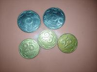Отдается в дар Монеты Украины 5 и 25 коп