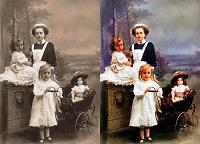 Отдается в дар Раскраска старых фотографий