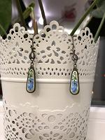 Отдается в дар Серьги из керамики с росписью