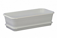 Отдается в дар Ящик балконный 70х16(14)х17 см новый белый с поддоном