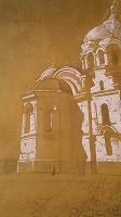 Отдается в дар «Храм» Рисунок, выполненный на листе