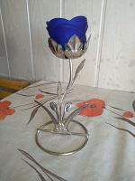 Отдается в дар Подсвечник Синяя роза